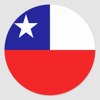 Chile High quality Flag Round Sticker