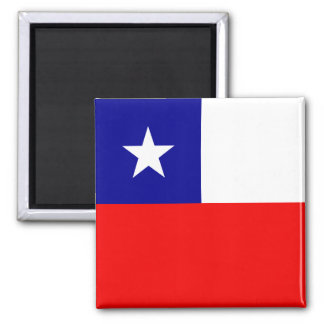 Chile High quality Flag Square Magnet