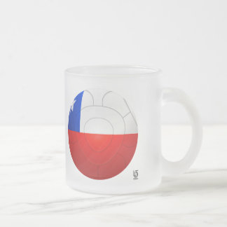 Chile - La Roja Football Frosted Glass Mug