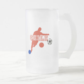 Chile La Roja Soccer players soccer team gifts Frosted Glass Mug