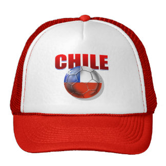 Chile logo soccer ball flag of Chile gear Mesh Hat