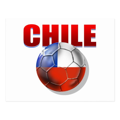 Chile logo soccer ball flag of Chile gear Post Cards