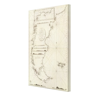 Chile Map Canvas Print