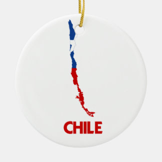 CHILE MAP CHRISTMAS ORNAMENT
