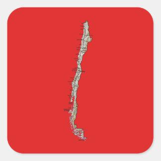 Chile Map Sticker