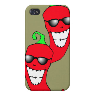 Chile Peppers in Sunglasses Techie Iphone 4 Case