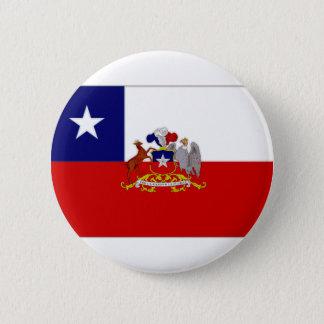Chile President Flag 6 Cm Round Badge