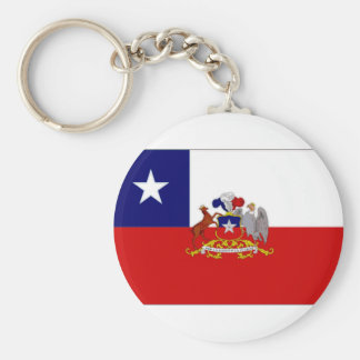 Chile President Flag Basic Round Button Key Ring