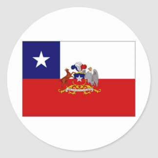 Chile President Flag Classic Round Sticker