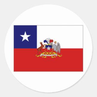 Chile President Flag Round Sticker