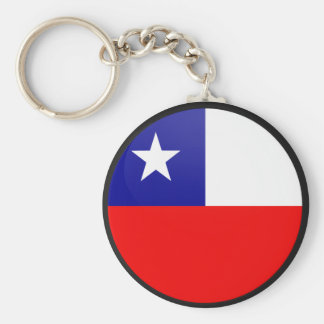 Chile quality Flag Circle Basic Round Button Key Ring