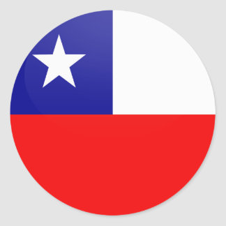 Chile quality Flag Circle Round Sticker