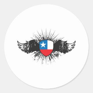 Chile Round Sticker