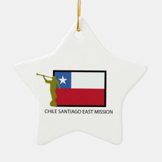 Chile Santiago East Mission LDS CTR Christmas Ornament