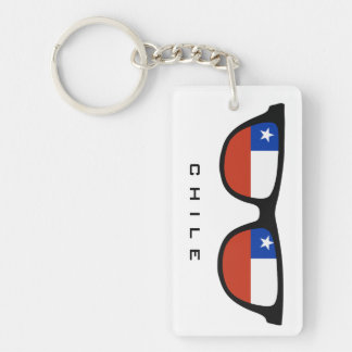 Chile Shades custom text & color key chain