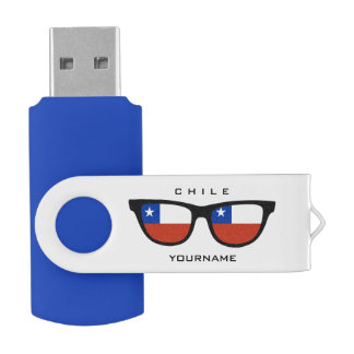 Chile Shades custom USB drives Swivel USB 3.0 Flash Drive