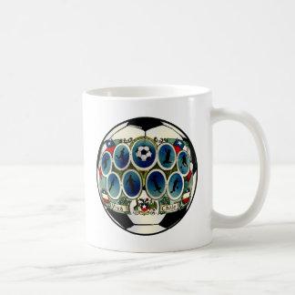 Chile soccer ball silhouettes La Roja gifts Coffee Mugs