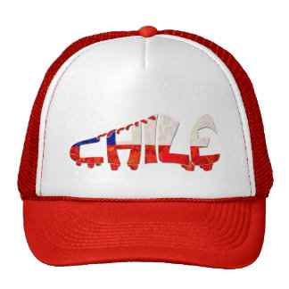 Chile Soccer Cleat Design Mesh Hat