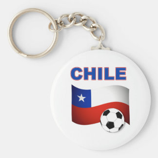 chile soccer football basic round button key ring