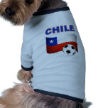 chile soccer football dog t shirt