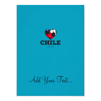 Chile Soccer Shirt 2016 17 Cm X 22 Cm Invitation Card