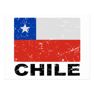 Chile Vintage Flag Postcard