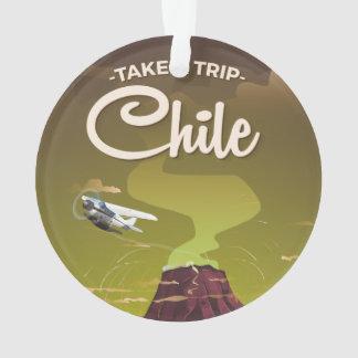Chile Volcano vintage travel poster