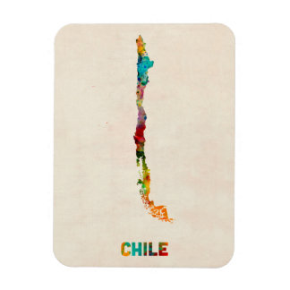 Chile Watercolor Map Magnet