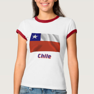 Chile Waving Flag with Name T-Shirt