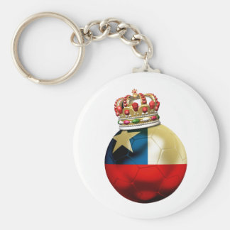 Chile World Champion Basic Round Button Key Ring
