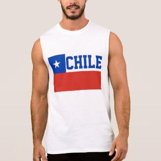 Chile World Flag Sleeveless Shirt