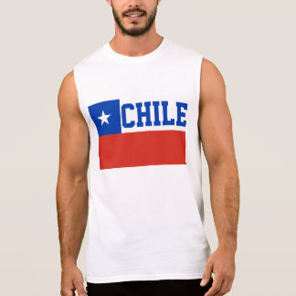 Chile World Flag Sleeveless Tee