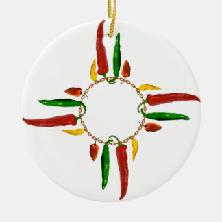 Chile Zia Christmas Ornament