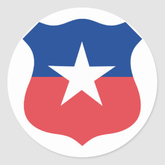 Chilean Air Force roundel, Chile Classic Round Sticker