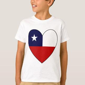 Chilean Flag Heart Valentine T-Shirt