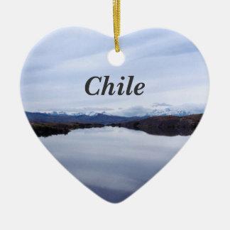 Chilean Landscape Christmas Ornament