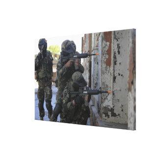 Chilean marines canvas print