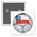 Chilean Soccer Ball Pinback Button