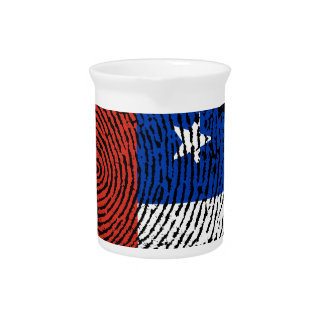 Chilean touch fingerprint flag pitcher