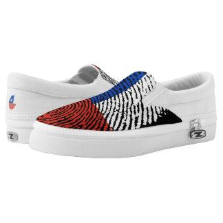 Chilean touch fingerprint flag Slip-On shoes