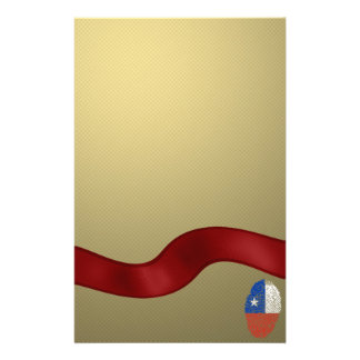 Chilean touch fingerprint flag stationery