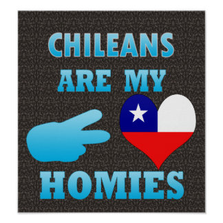 Chileans are my Homies Poster