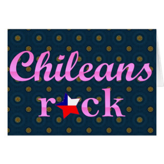 Chileans Rock - Cute Pink Greeting Card