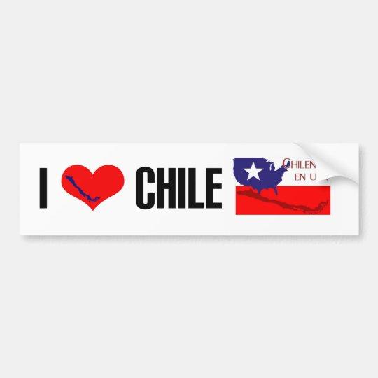 Chilenos en USA Bumper sticker