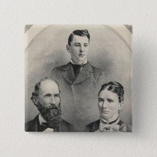 Chiles family portraits 15 cm square badge