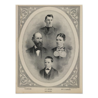Chiles family portraits poster