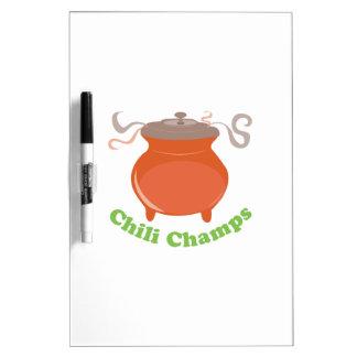 Chili Champs Dry-Erase Boards