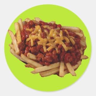 Chili Fries Classic Round Sticker