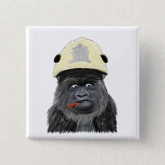 Chili gorilla 15 cm square badge