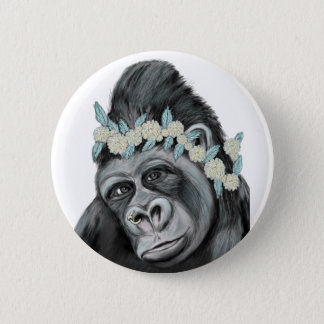 Chili gorilla 6 cm round badge